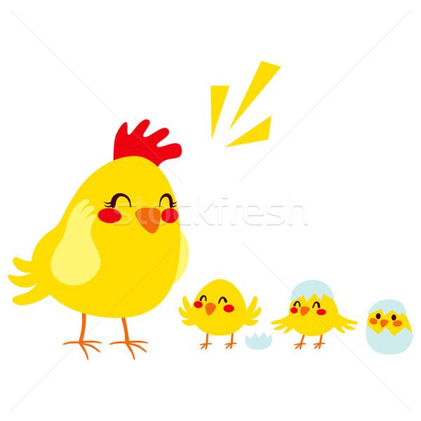 Hen And Chicks Stock photo © Kakigori