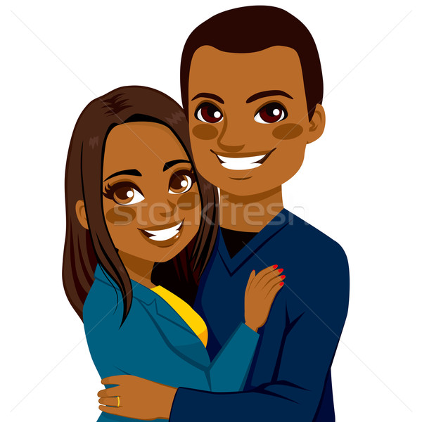 African American Couple Hugging Stock photo © Kakigori