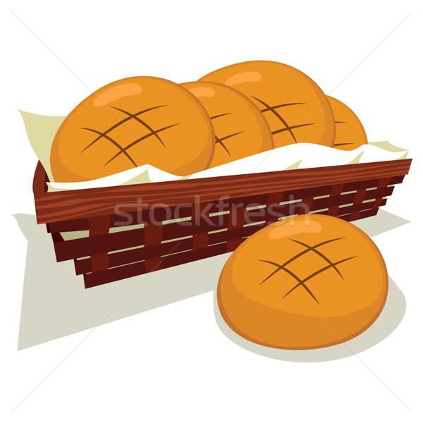Bread Bun Basket Stock photo © Kakigori
