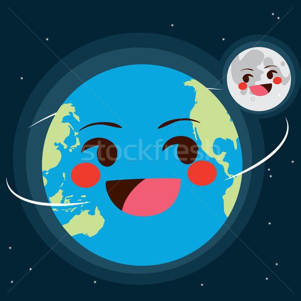 Earth And Moon Stock photo © Kakigori
