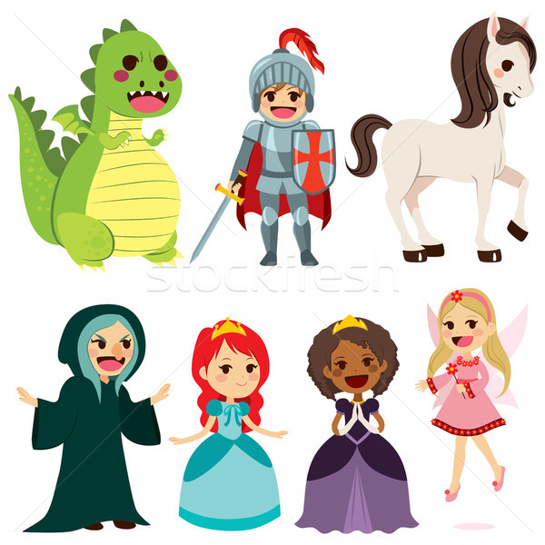 Fairy Tale Characters Stock photo © Kakigori