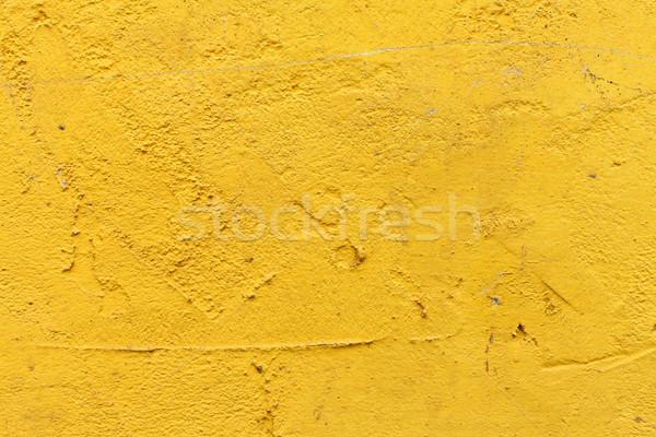 Amarillo yeso pared textura pintura fondo Foto stock © kalozzolak