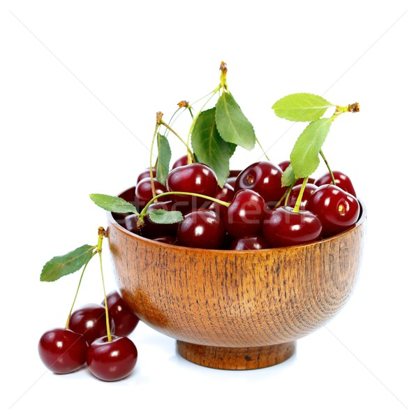 Cherries in bowl Stock photo © kalozzolak