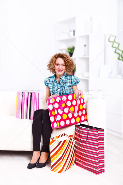 Shopping woman Stock photo © kalozzolak