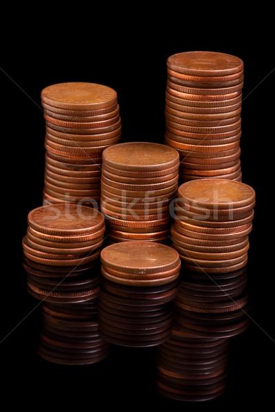 Reflecting coin columns Stock photo © kalozzolak
