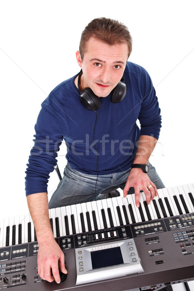 Synthesizer player Stock photo © kalozzolak