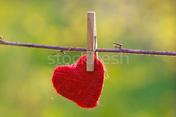 Hanged heart Stock photo © kalozzolak