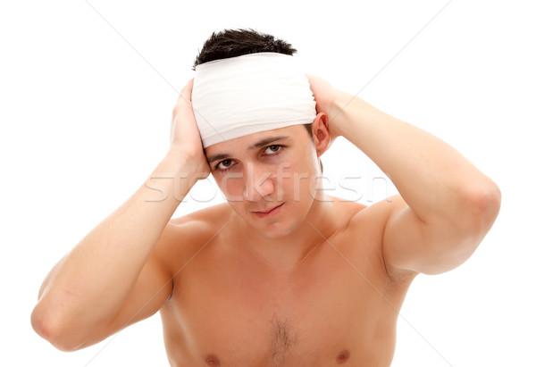 Head pain Stock photo © kalozzolak