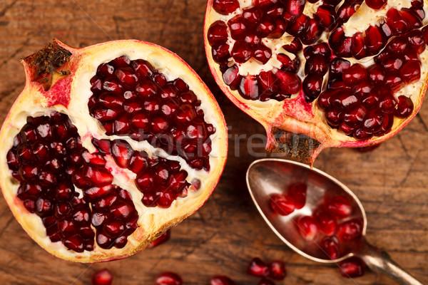 гранат плодов семян мнение серебро чайная ложка Сток-фото © kalozzolak
