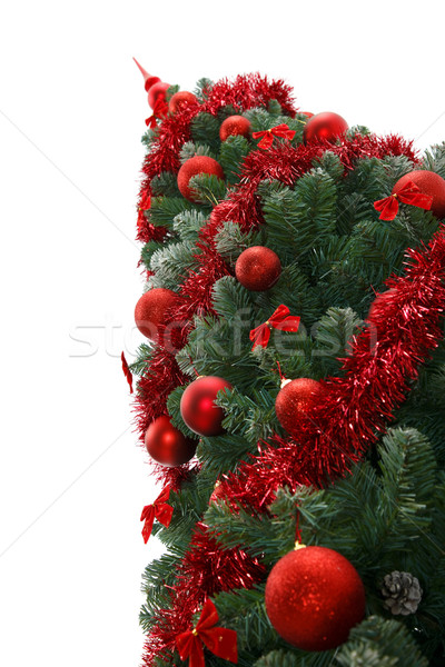Kerstboom fabelachtig Rood ornamenten boom groene Stockfoto © kalozzolak