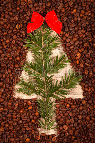 Symbol of Christmas tree with juniper leaves Stock photo © kalozzolak