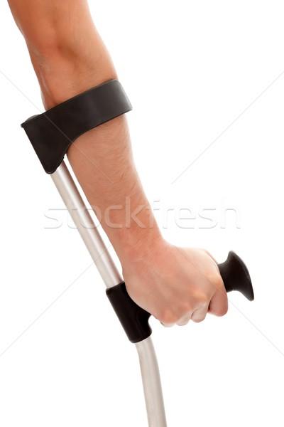 Mano muleta brazo hombre aislado Foto stock © kalozzolak