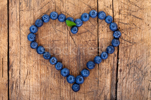Berry heart Stock photo © kalozzolak
