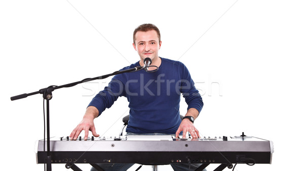 Portrait of a handsome musician Stock photo © kalozzolak