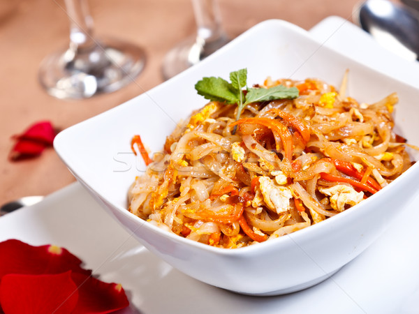 Stock photo: Indian side order food - Phad thai gung