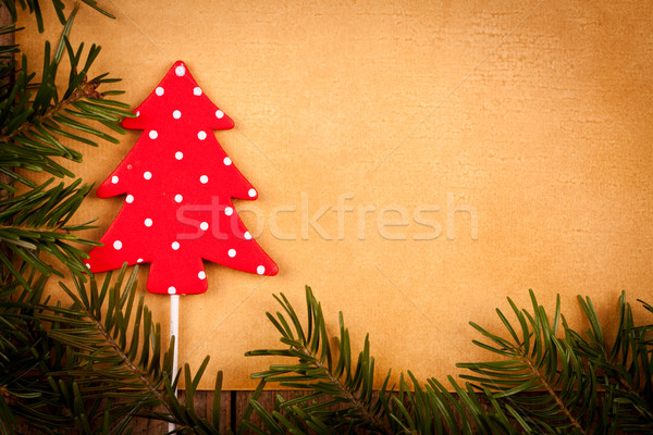 Lekeli noel ağacı dekorasyon Eski kağıt kâğıt dizayn Stok fotoğraf © kalozzolak