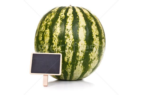 Stock photo: Melon with little blackboard