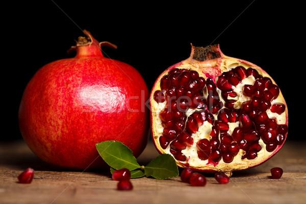 Pomegranates side by side Stock photo © kalozzolak
