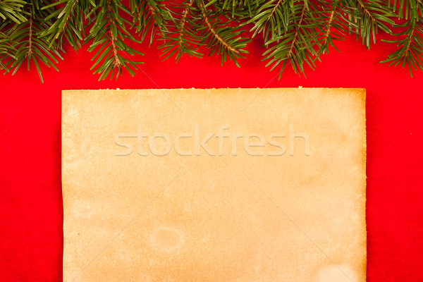Rustic paper on red velvet  Stock photo © kalozzolak