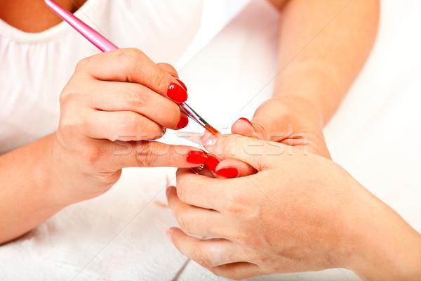 人工的な 爪 プロセス クローズアップ 表示 2 ストックフォト © kalozzolak