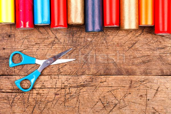 Wrapping paper  Stock photo © kalozzolak