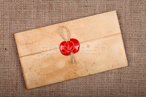 Closed envelope with sealing wax Stock photo © kalozzolak