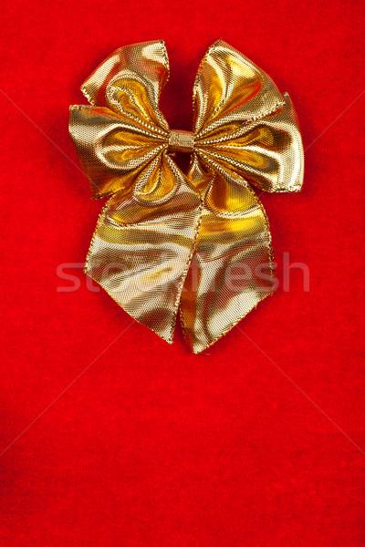 リボン ベルベット 赤 クリスマス デザイン ストックフォト © kalozzolak