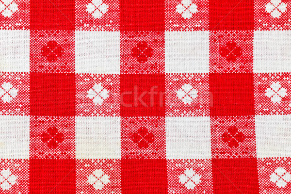 Red  checkered canvas as background Stock photo © kalozzolak