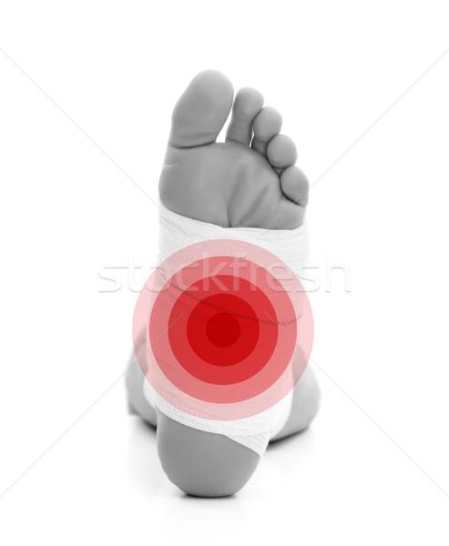 Törött láb férfi izolált fehér gyógyszer törött Stock fotó © kalozzolak