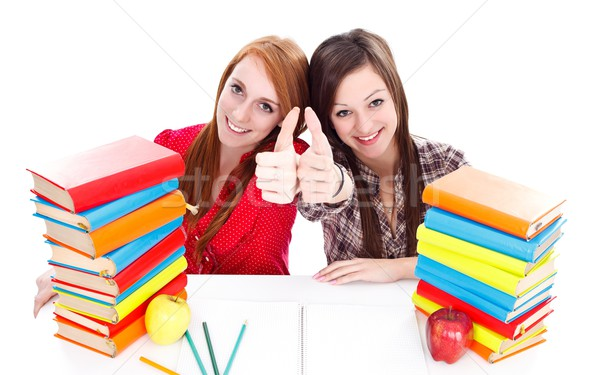 Students with books Stock photo © kalozzolak