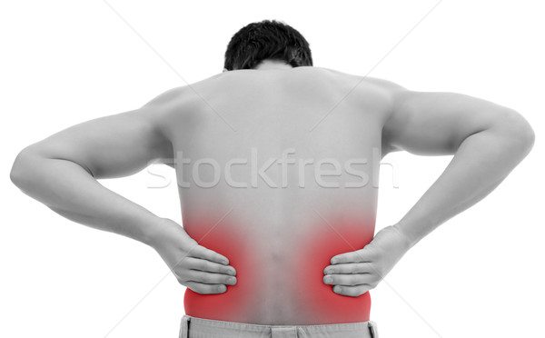 Man with back pain Stock photo © kalozzolak