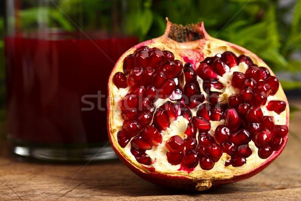 Grenadine fruit and juice Stock photo © kalozzolak