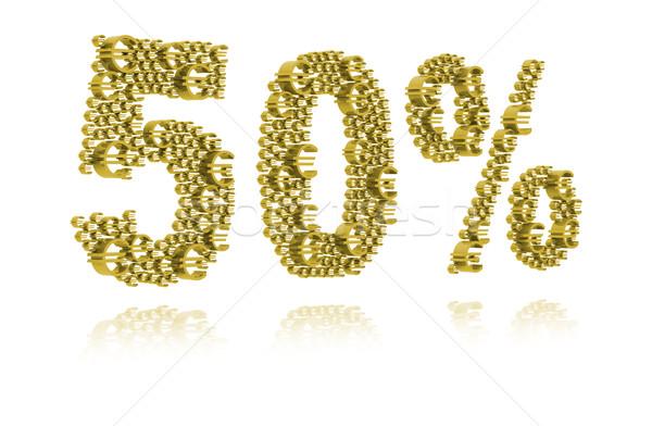 3d cincuenta por ciento mercado venta comprar Foto stock © kalozzolak