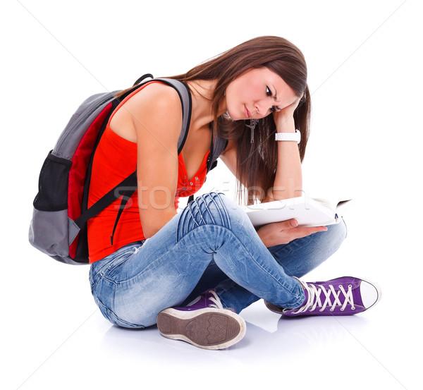Learning student girl Stock photo © kalozzolak