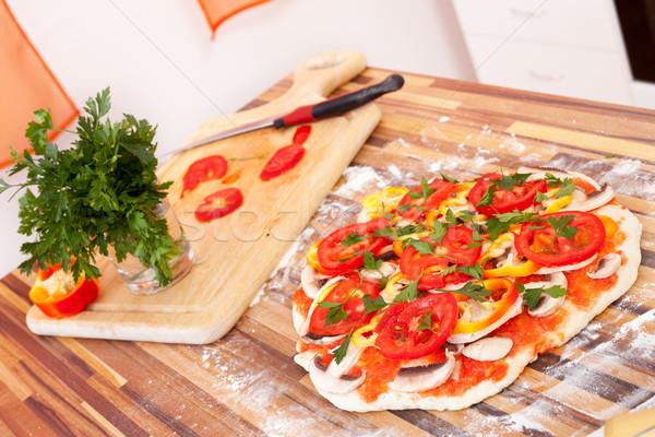 Veggie pizza Stock photo © kalozzolak