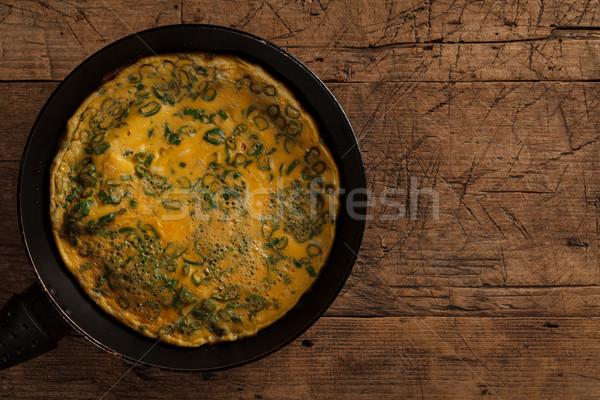 Scrambled eggs  Stock photo © kalozzolak
