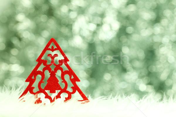 Small red Christmas tree Stock photo © kalozzolak