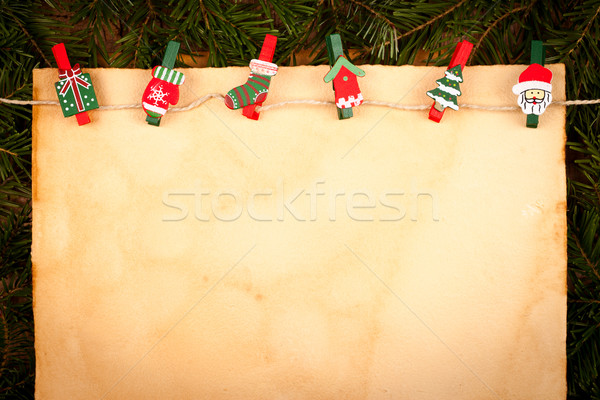 Christmas figure clip ornaments Stock photo © kalozzolak