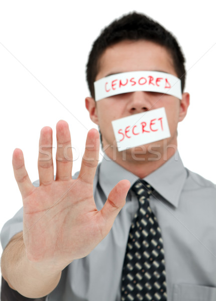 Censored secret Stock photo © kalozzolak