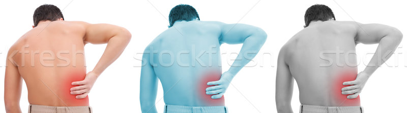 Dor nas costas moço dor de volta mão médico Foto stock © kalozzolak