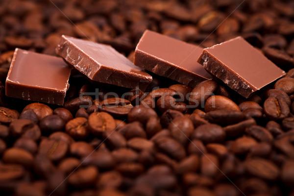 шоколадом кофе бобов мнение Сток-фото © kalozzolak