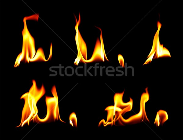 Moments of fire and flames Stock photo © kalozzolak