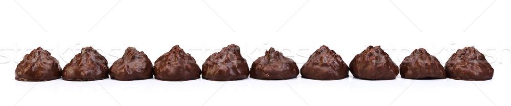 Bolinhos completo chocolate curativo caseiro Foto stock © kalozzolak