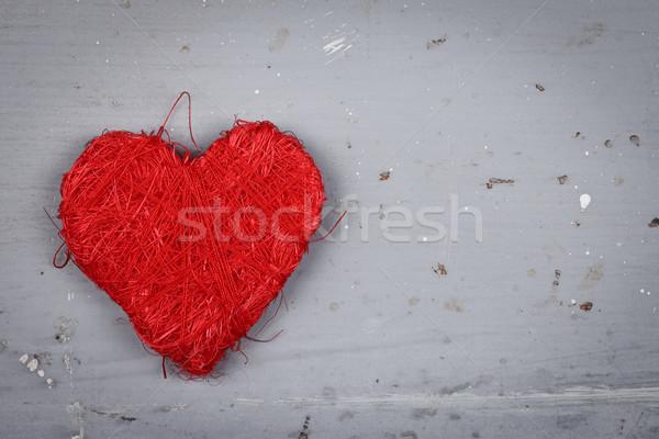 Rosso string cuore primo piano view sporca Foto d'archivio © kalozzolak
