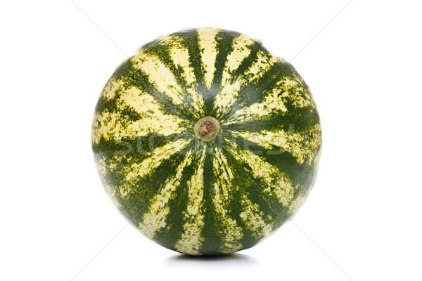 Dolny świeże arbuz odizolowany biały owoców Zdjęcia stock © kalozzolak