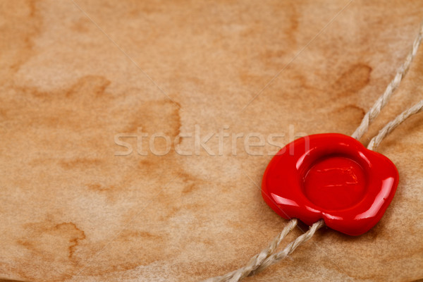 Cera selar vermelho ver velho Foto stock © kalozzolak