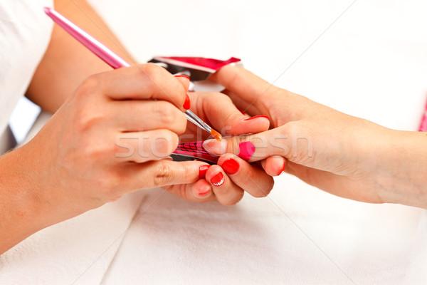 Acryl nagel ontwerper mode Stockfoto © kalozzolak