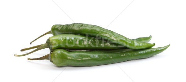 Green chilli peppers Stock photo © kalozzolak