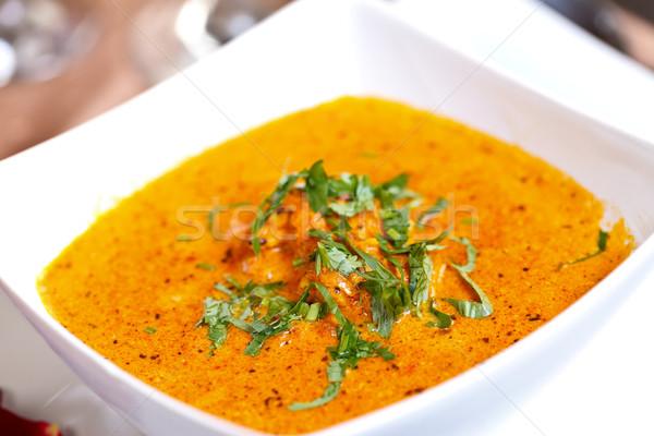 Keleti konyha paradicsom curry friss krém száraz Stock fotó © kalozzolak