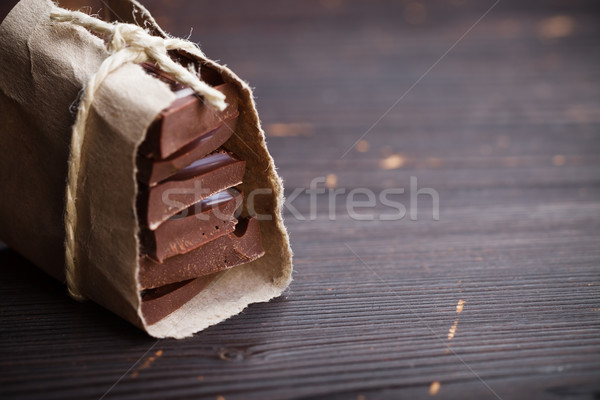 Pieces of chocolate packed Stock photo © kalozzolak